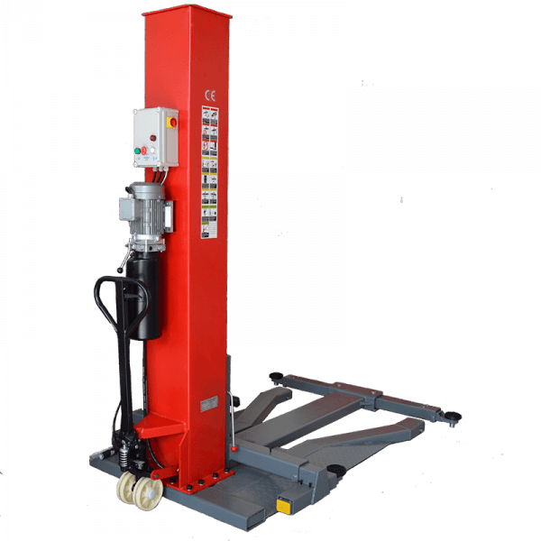 Manual - Deluxe 1-søjlet autolift - 2500kg